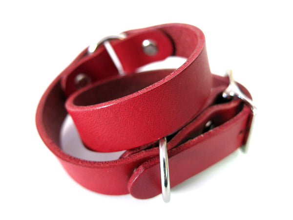 Red Ring Wrap Bracelet
