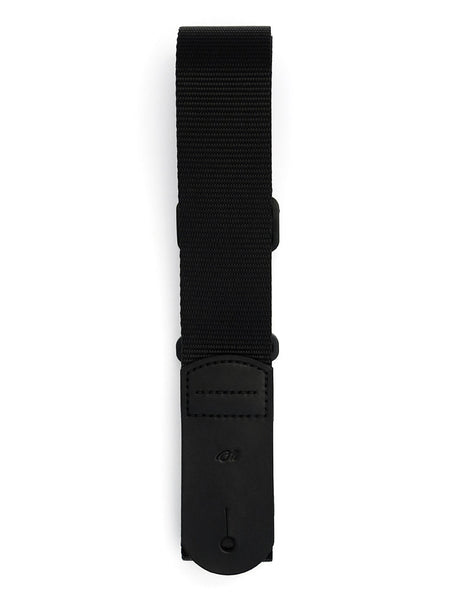 S1 Black Flat Nylon Guitar Strap