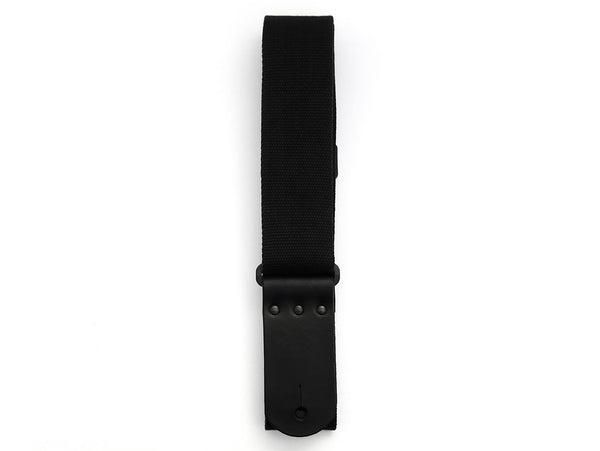 SC1 Black Canvas Guitar Strap