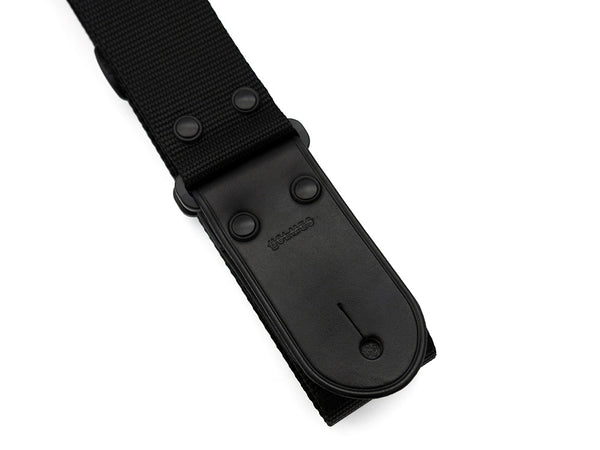 WR1 Black Flat Nylon Guitar Strap