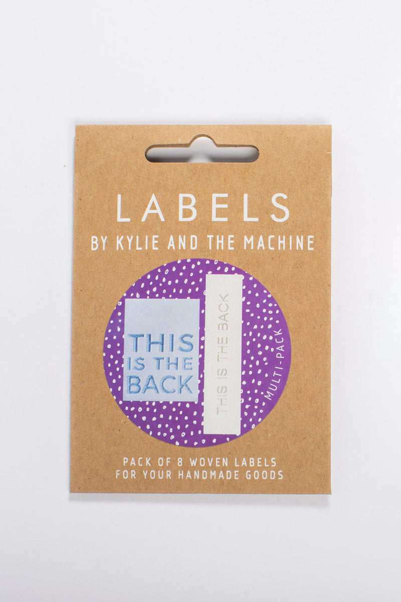 """This is the Back"" Woven Label Dual Pack"