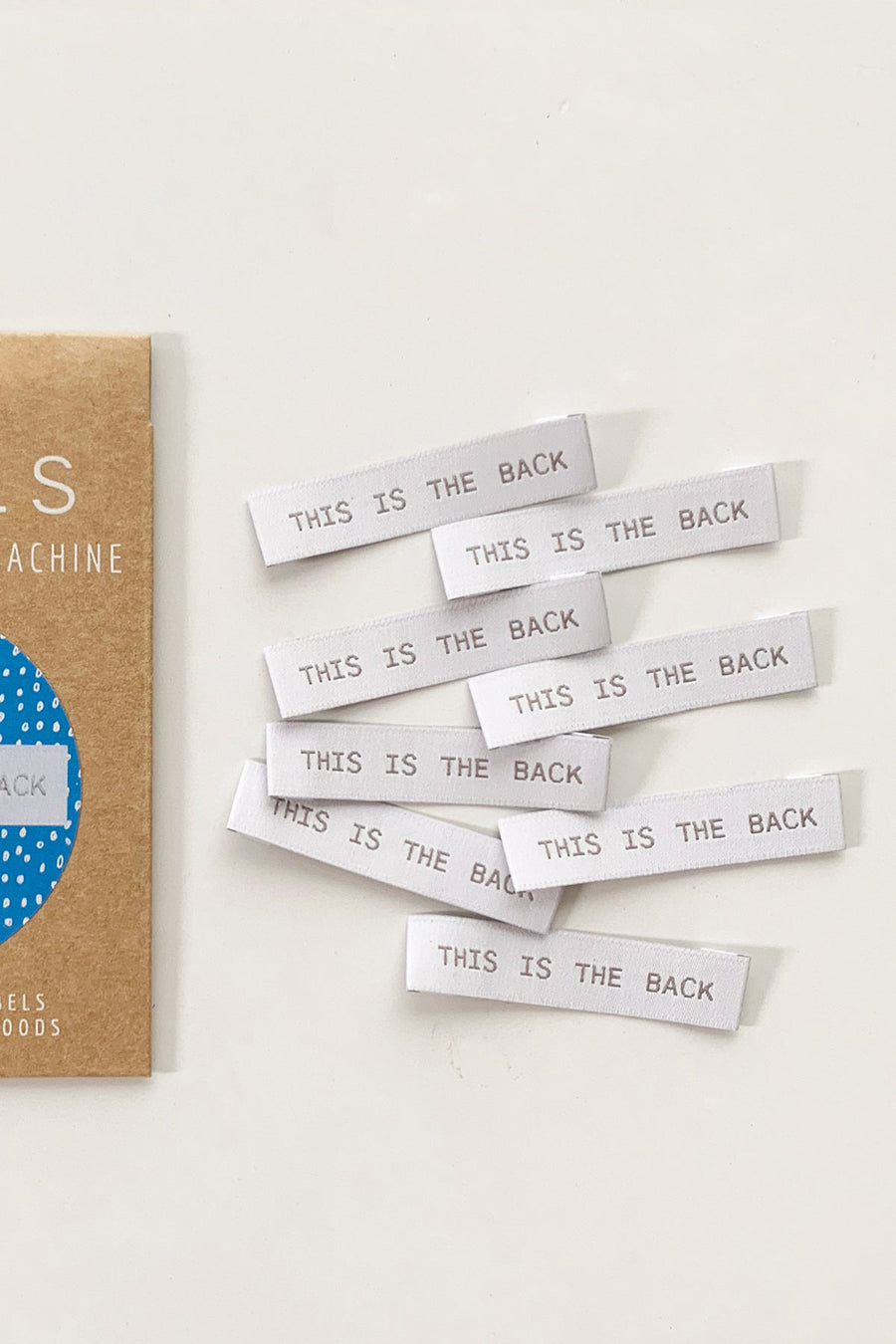 """This is the Back"" End Fold Woven Label"