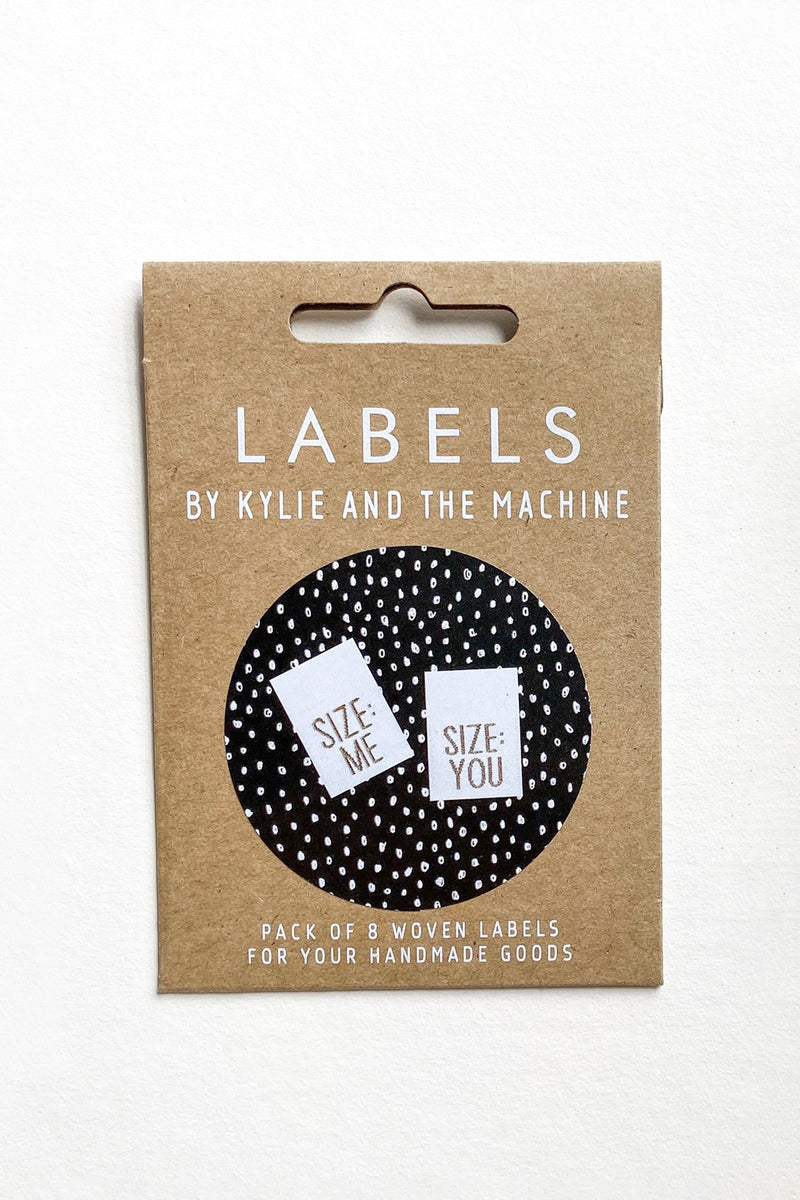 """Size: Me, You"" Woven Label"