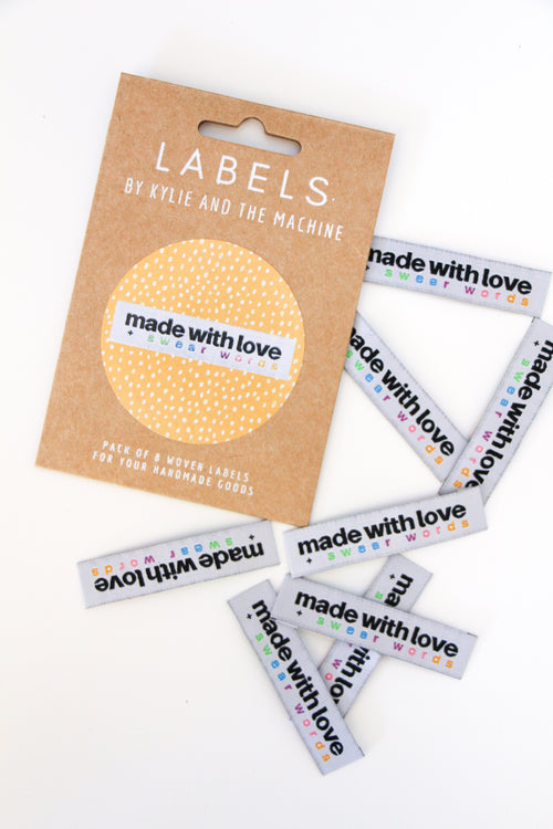 """Made With Love + Swear Words"" Woven Label"