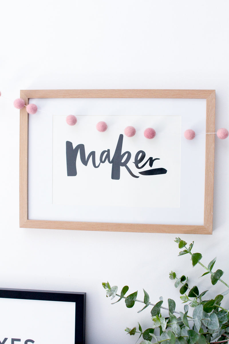Maker Typography Print