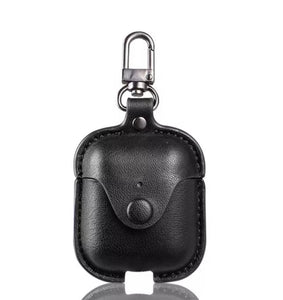 Leather Button Clip AirPod Case (4 designs)