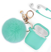 Load image into Gallery viewer, Silicone AirPod Case w/Pouff (6 colors)