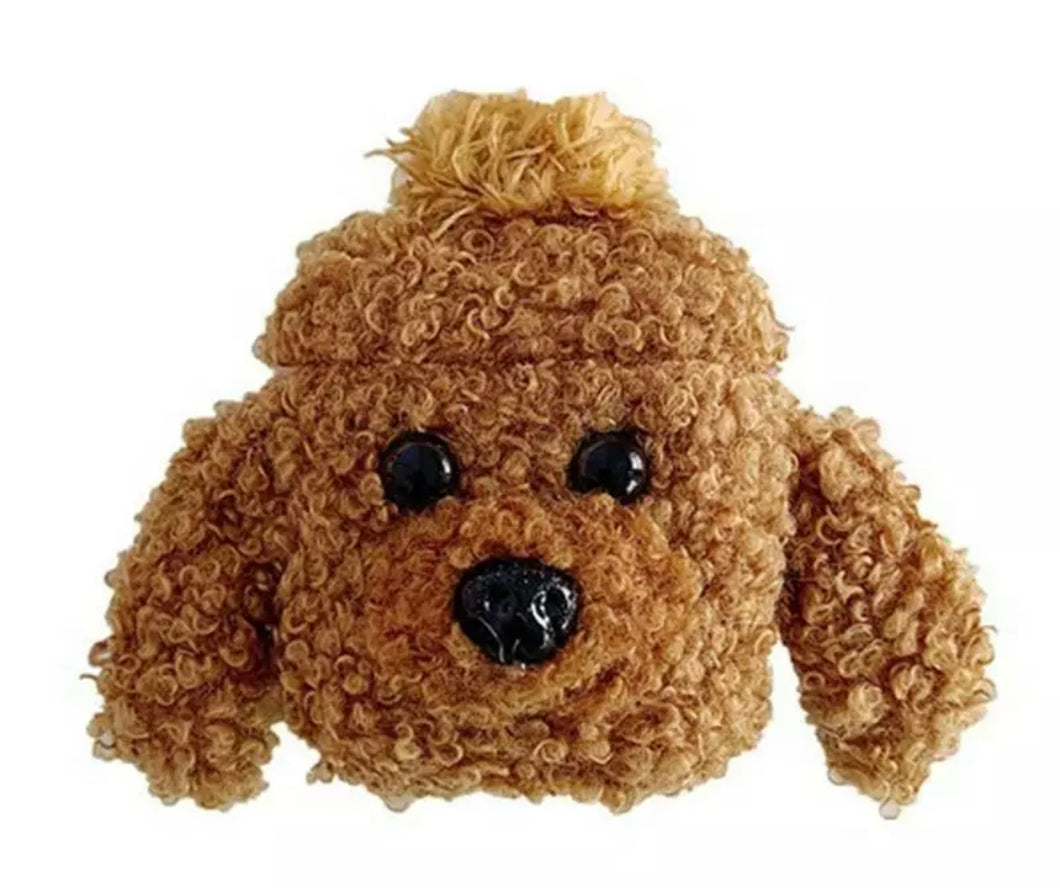 Fluffy Golden Doodle AirPod Case