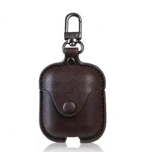 Leather Button Clip AirPod Case - 4 Colors Available