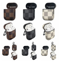 Load image into Gallery viewer, Checkered Leather AirPod Case - AirPod (3 colors)