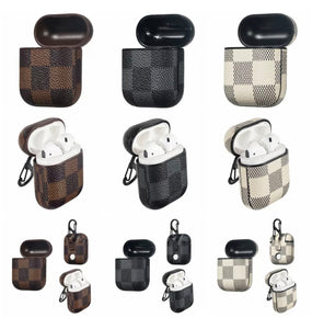 Checkered Leather AirPod Case - AirPod (3 colors)