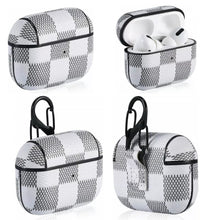 Load image into Gallery viewer, Checkered Leather AirPod Case - AirPod Pro (3 colors)