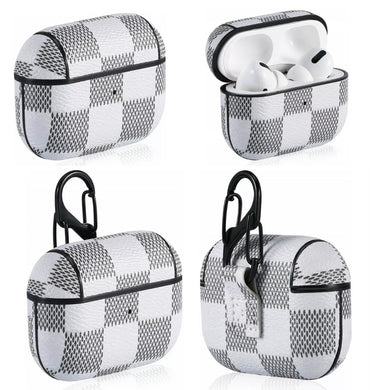 Checkered Leather AirPod Case - AirPod Pro (3 colors)