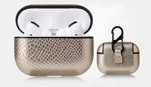 Load image into Gallery viewer, Snake Skin and Leather AirPod Case - AirPod Pro (12 colors)
