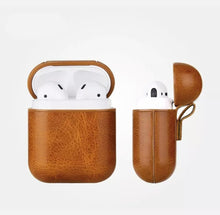 Load image into Gallery viewer, Traditional Leather AirPod Case (4 colors)