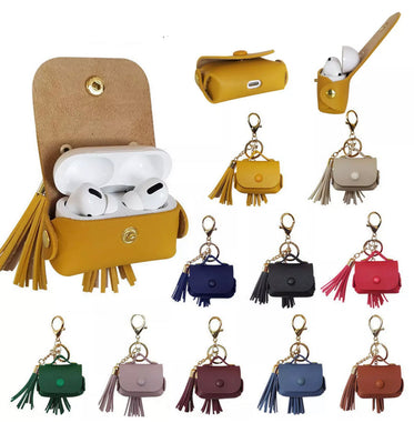 Leather Tassel AirPod Case - AirPod Pro (10 colors)