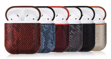 Snake Skin Leather AirPod Case (6 designs)