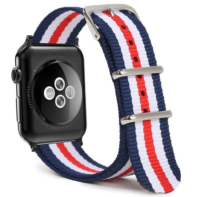Red White and Blue Apple Watch Band