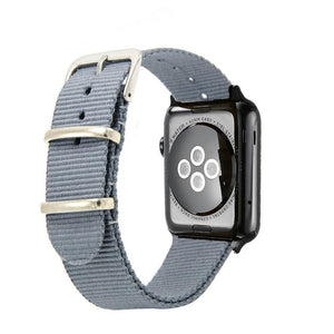 Light Grey Nylon Apple Watch Band