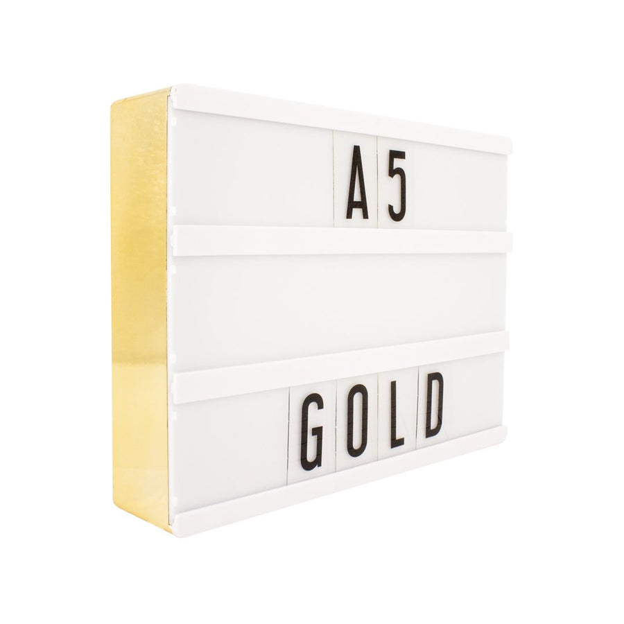 A5 Gold Lightbox