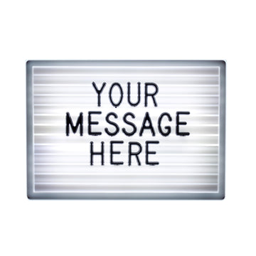 A6 Light up Letter board