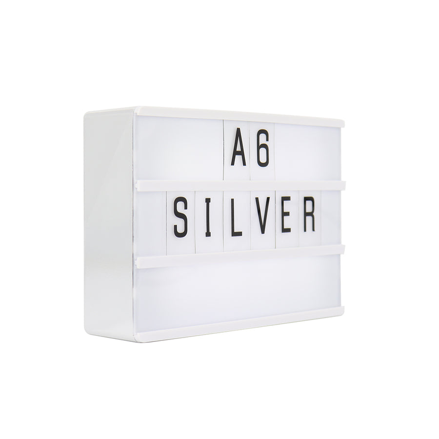 A6 Mini Magnetic Lightbox - Silver