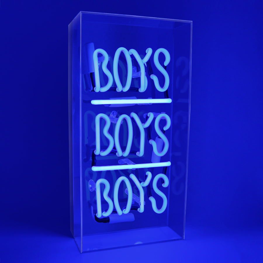 'Boys Boys Boys' Acrylic Box Neon Light