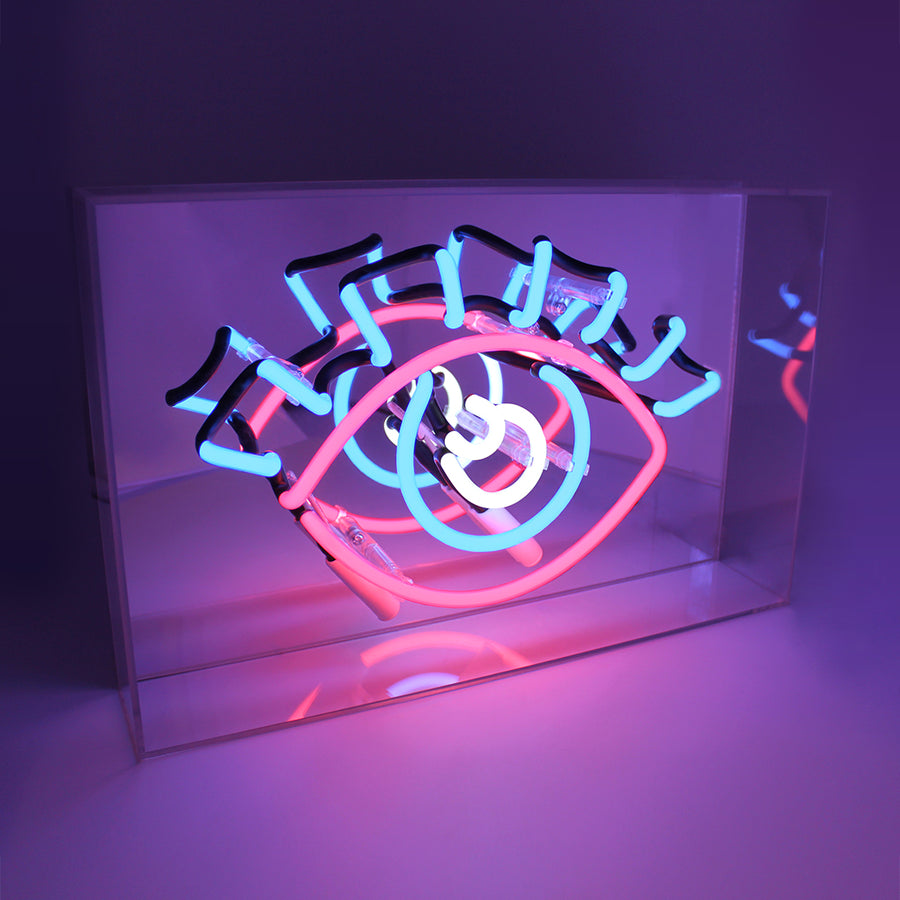 'EYE' Acrylic Box Neon Light