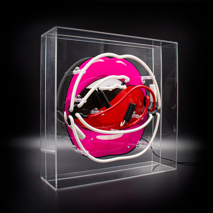 'Mouth' Acrylic Box Neon Light with Graphic