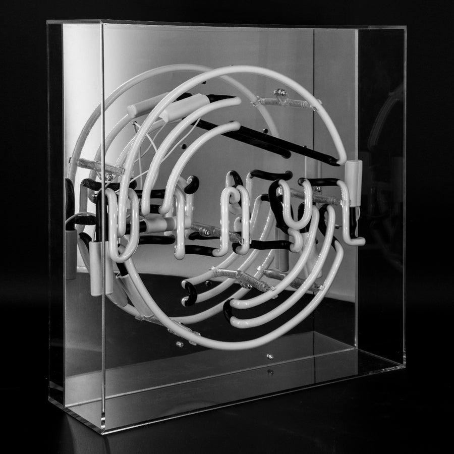 'Vinyl' Large Acrylic Box Neon Light