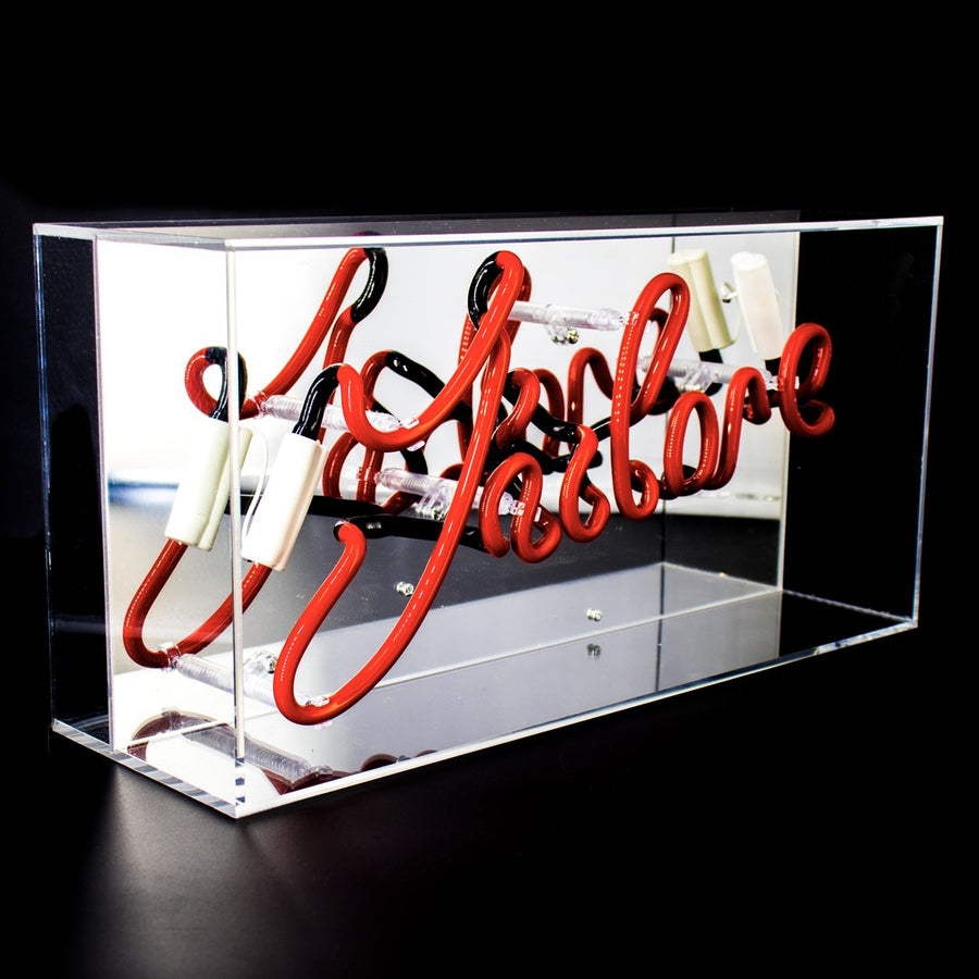 'J'adore' Acrylic Box Neon Light