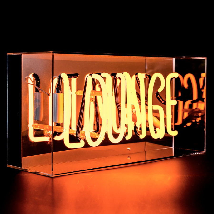 'Lounge' Acrylic Box Neon Light