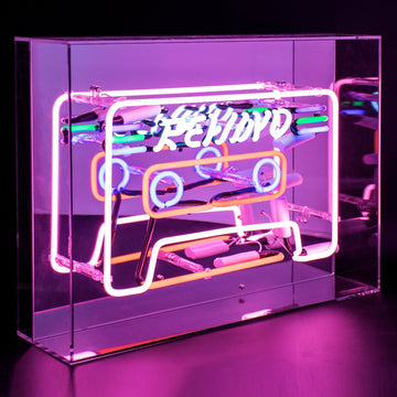 'Cassette' Acrylic Box Neon Light