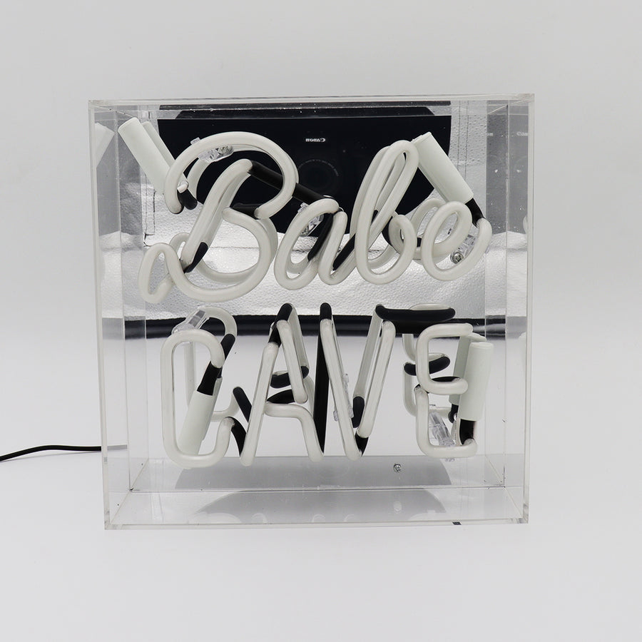 'Babe Cave' Acrylic Box Neon Light