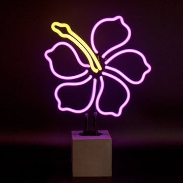 Neon 'Hibiscus' Sign