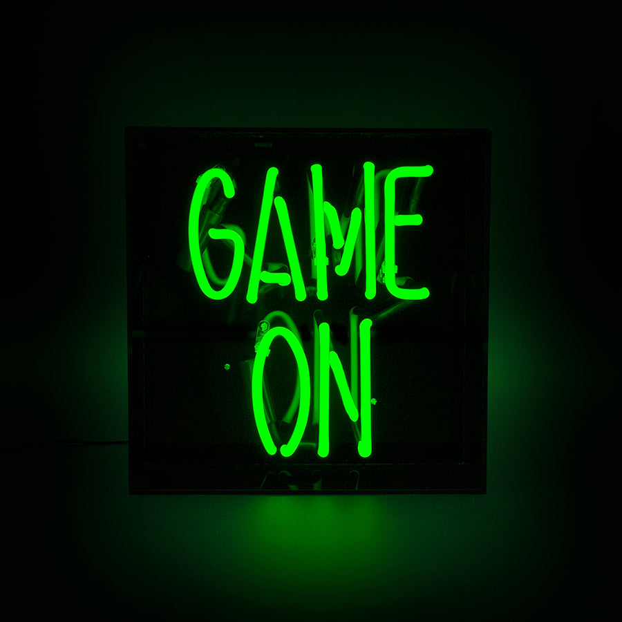 'Game On' Acrylic Box Neon Light