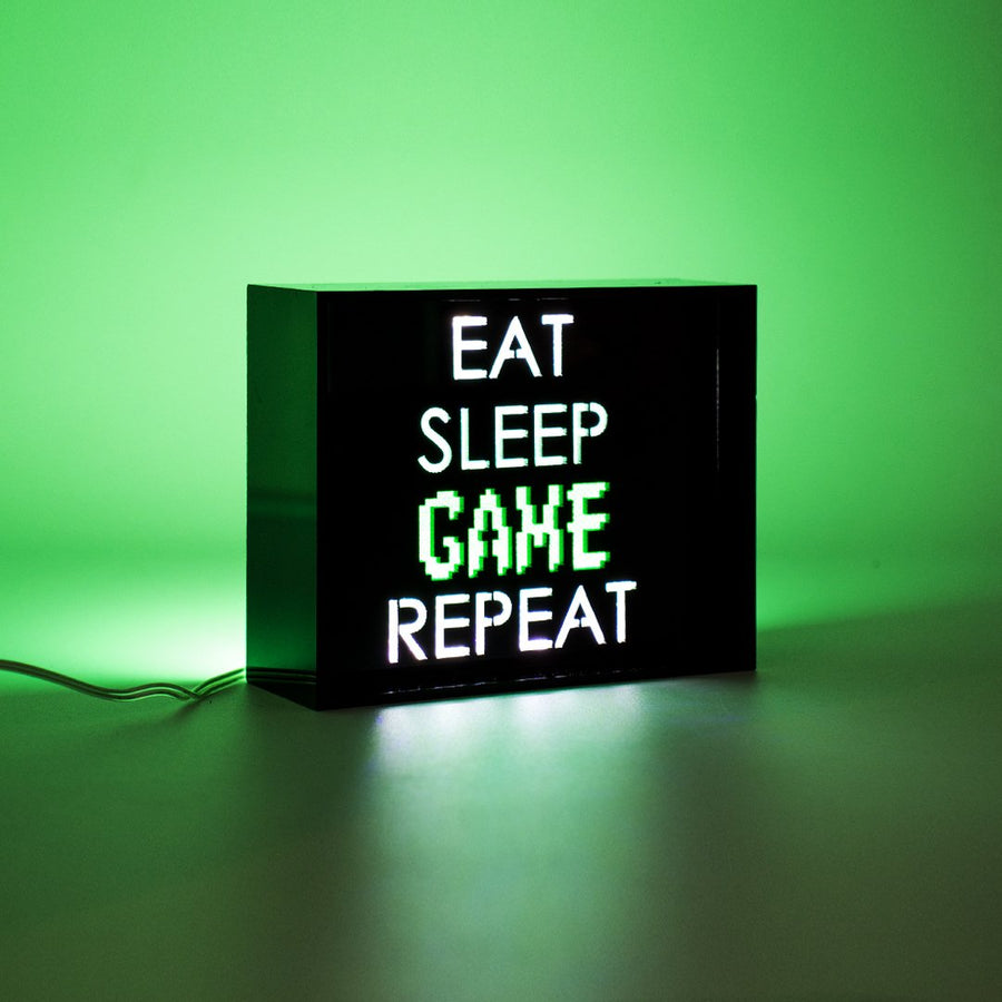 'Game Repeat' Mini Acrylic Box LED