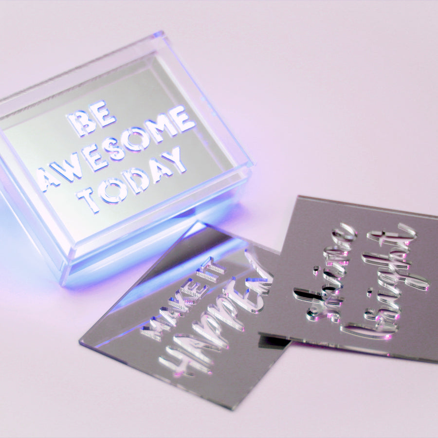 Mini Acrylic Box LED - Blue