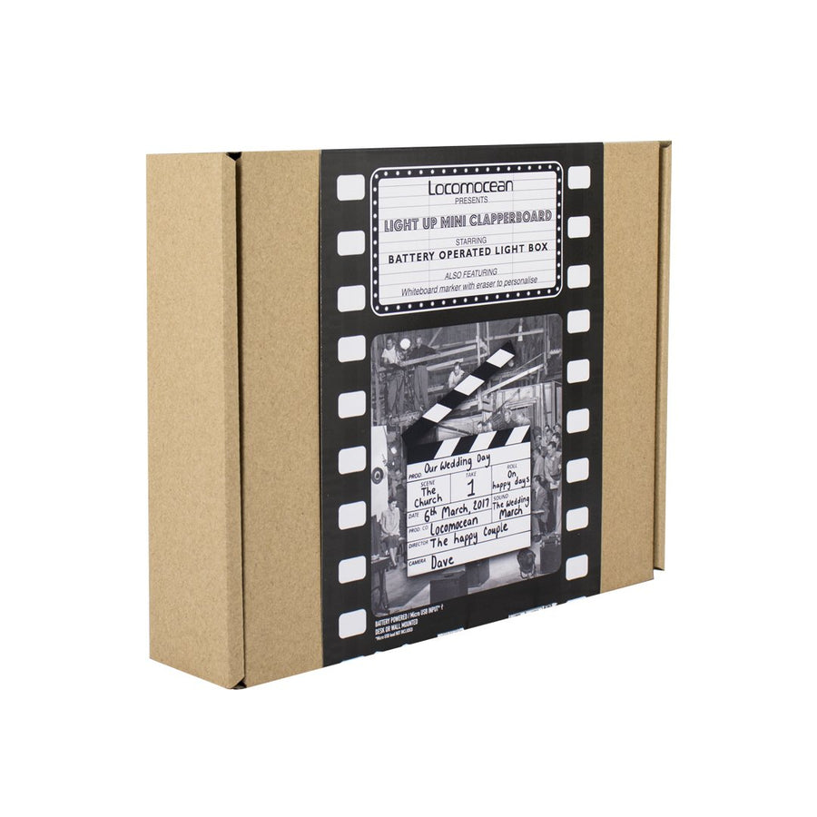 Mini Film Clapperboard Lightbox