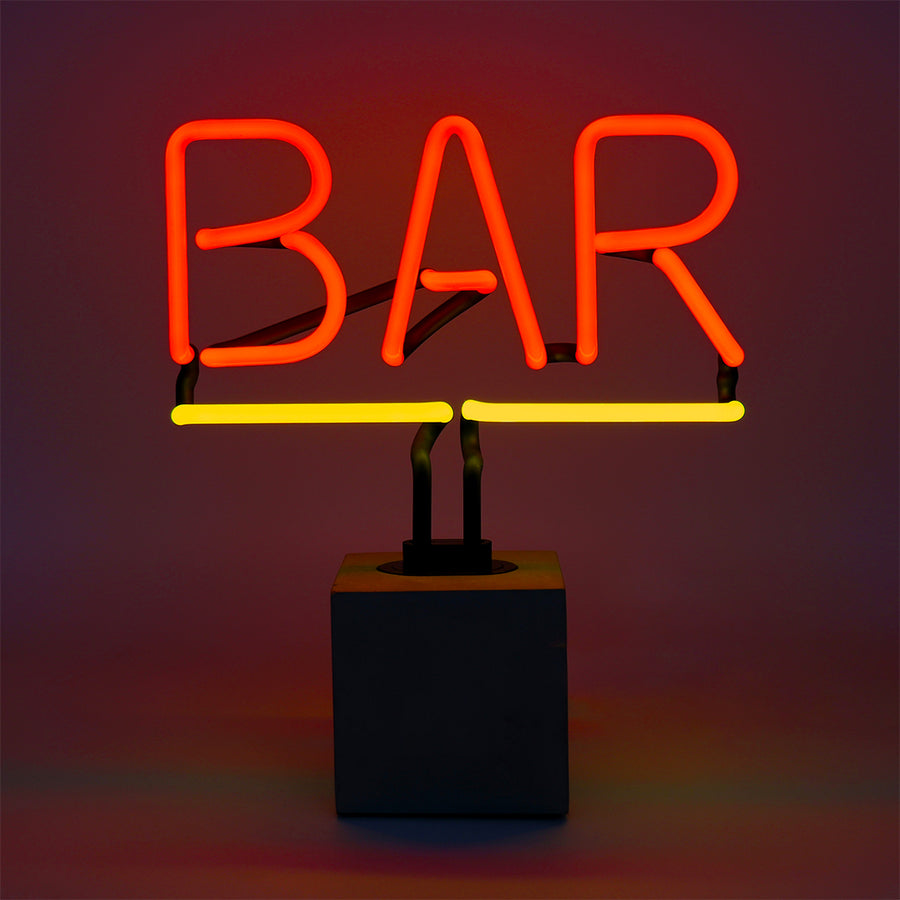 Neon 'Bar' Sign - Replacement Glass (GLASS ONLY)