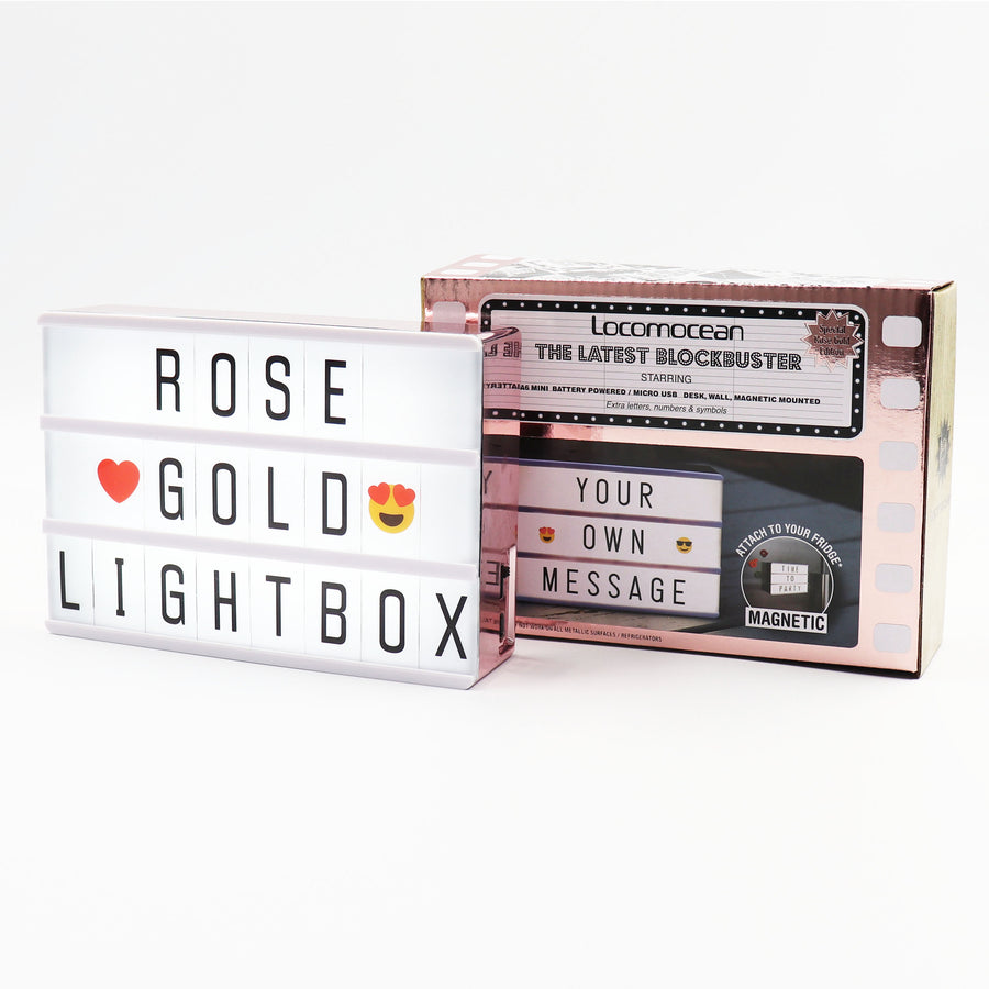 A6 Mini Magnetic Lightbox - Rose Gold