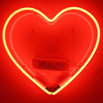 Neon Light 'Heart' Wall Sign