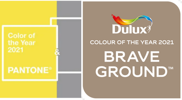 Pantone & Dulux Colours of the Year 2021