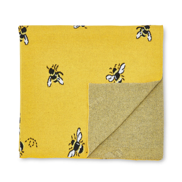 Cath Kidston - Honey Bee Yellow Throw