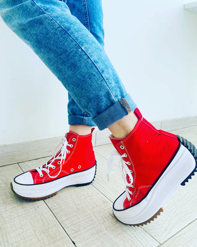 Sneakers simil converse rossa