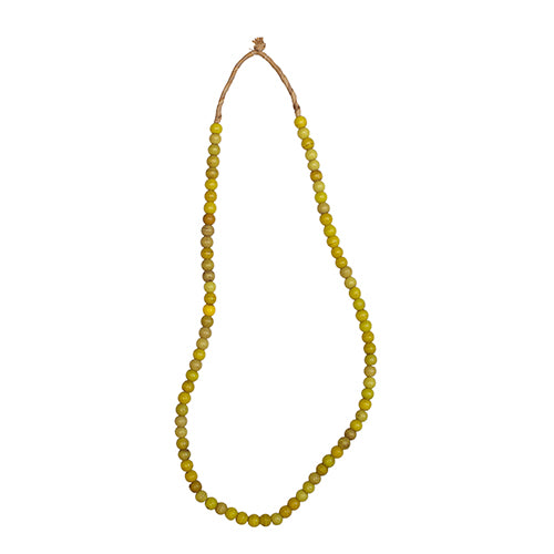 Yellow Olumbo Padre Bead Necklace