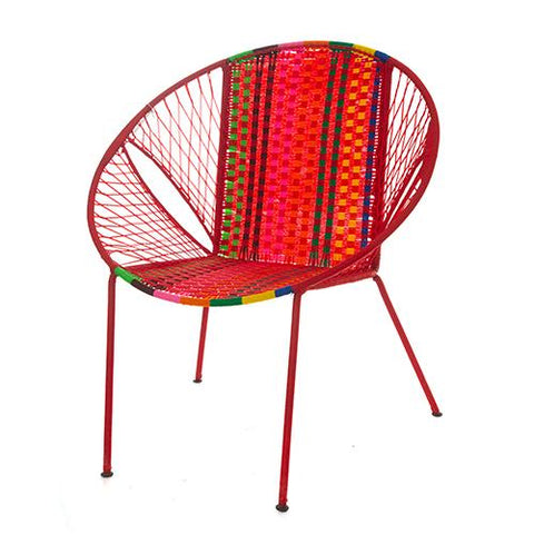 Poppy Red Dakar Deck Chair