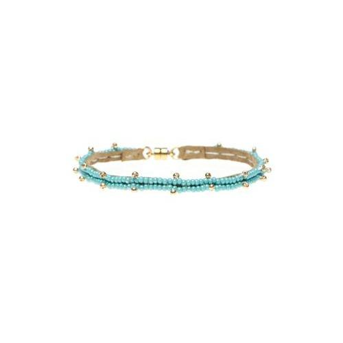 Turquoise Single Leather Bracelet