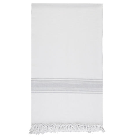 White and Grey Hammam Towel