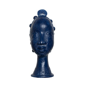 Zaffre Blue Lobi Head with Bantu Knots